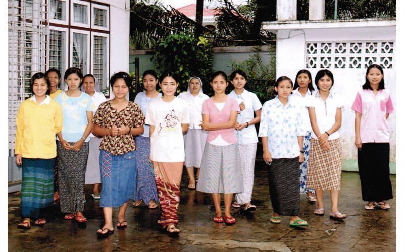 Burma Mädchen Yangon